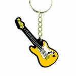 Silicon Electric Guitar Music Keyring