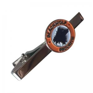 Black Wolf Tie Clip