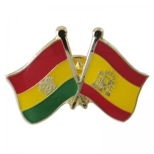 Bolivia and Spain Flag Pin