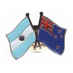 Argentina and New Zealand Crossed Pin