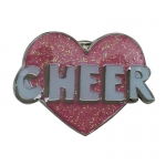Cheer Glitter Powder Brooch Pin