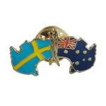 Sweden & Australia Crossed Lapel Pin