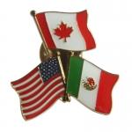 USA, CA and Mexico Combine Pin
