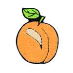 Peach Chenille Patches